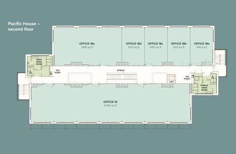 Pacific House second floor plan